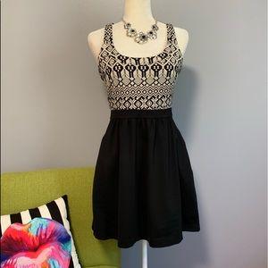 Cynthia Rowley Geometric Fit & Flare Dress C9